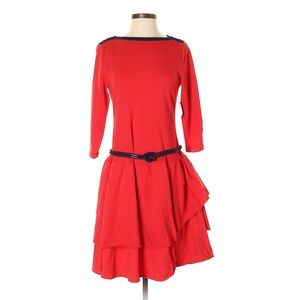 Lauren Jeans Co. Belted Red Cotton Dress
